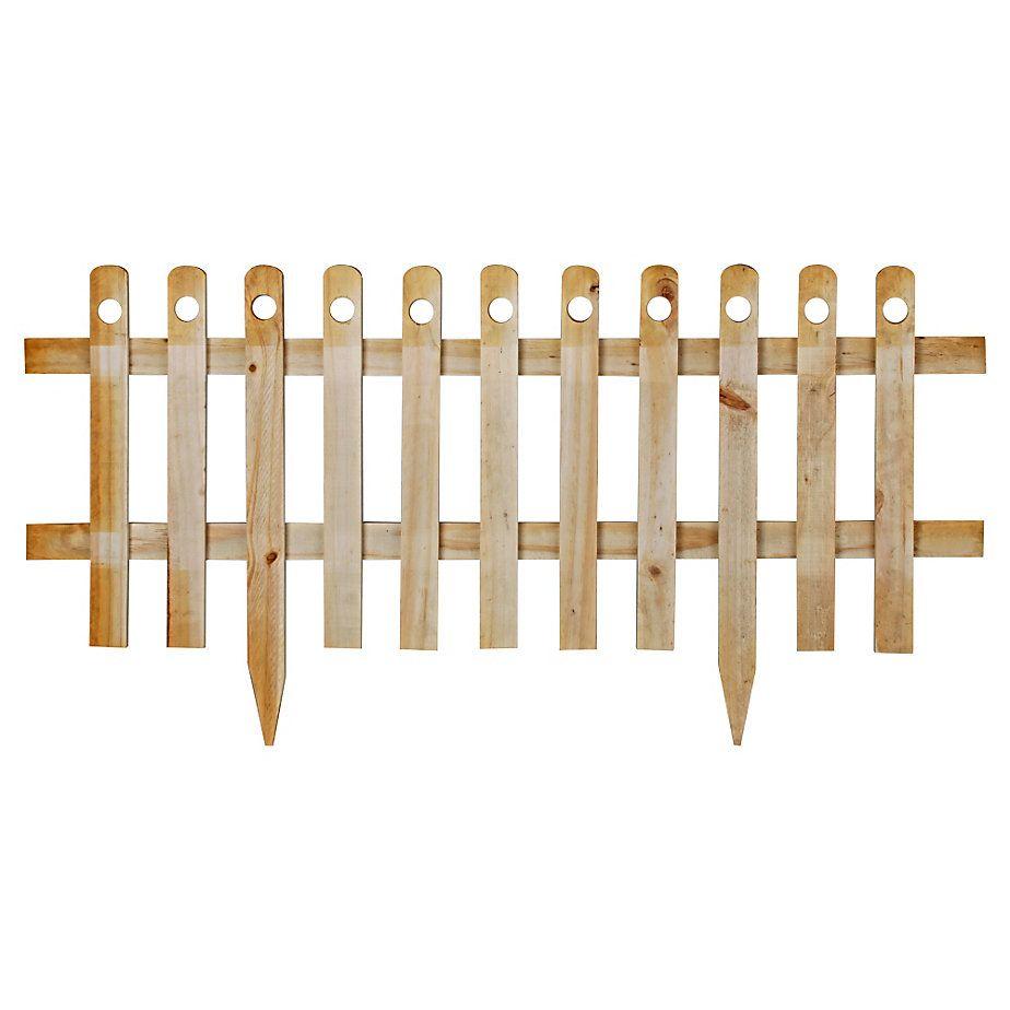 Alonso cerco de madera con estaca natural 100 x 40 cm - Estacas de madera para cierres ...