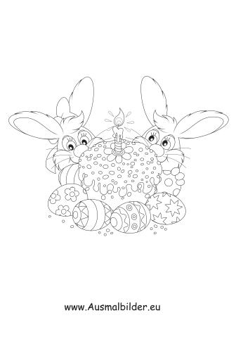 Osterhasen Mit Torte Zum Ausmalen Ausmalbilder Malvorlagen Ostern Osterhase Kindergarten Ostereier Ausmalbild Art Female Sketch 10 Things