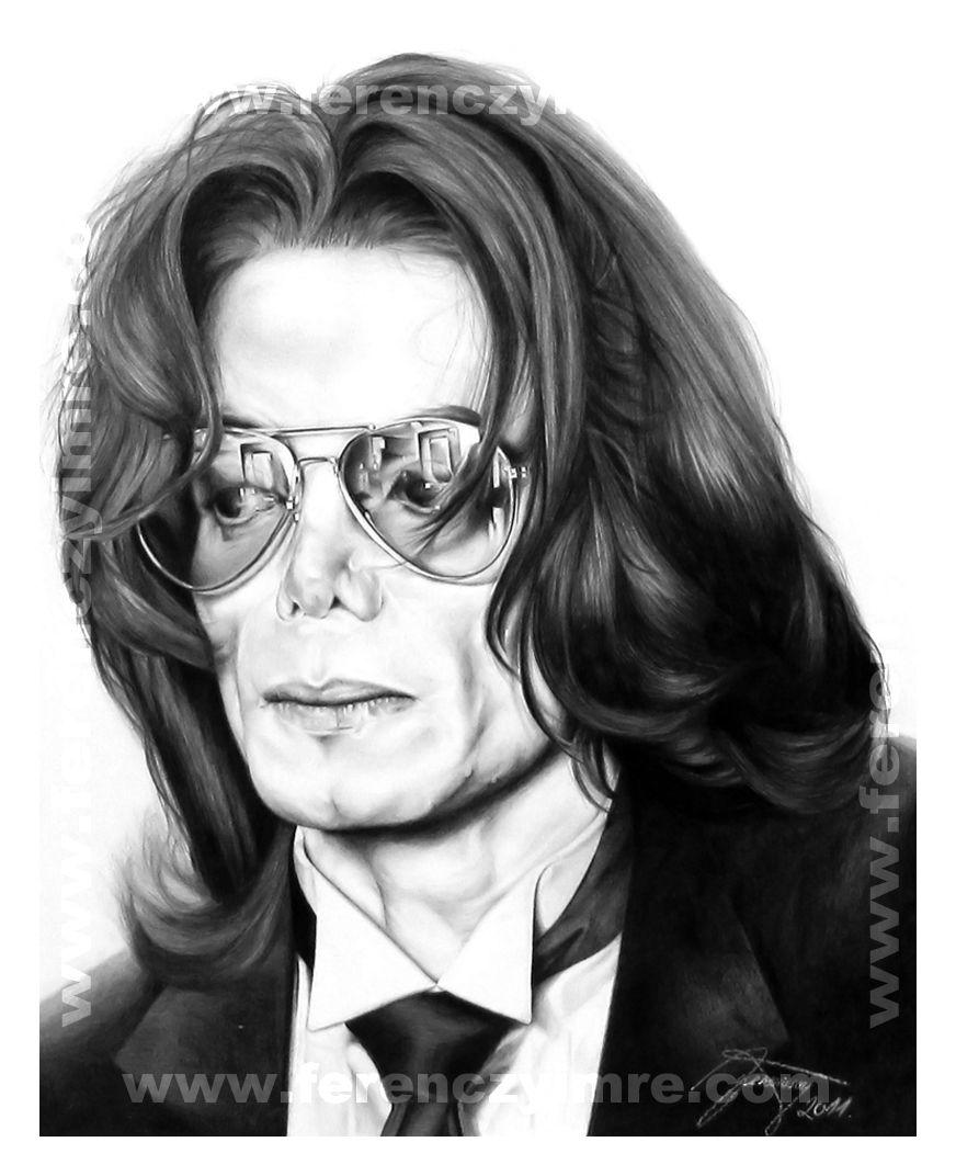 Michael Jackson Pencil Portrait By Ferenczy Imre