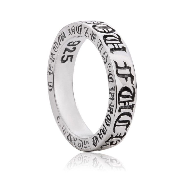 ed5beeb69364 925 Sterling Silver Chrome Hearts Gothic Antique Ring Gift for Men ...