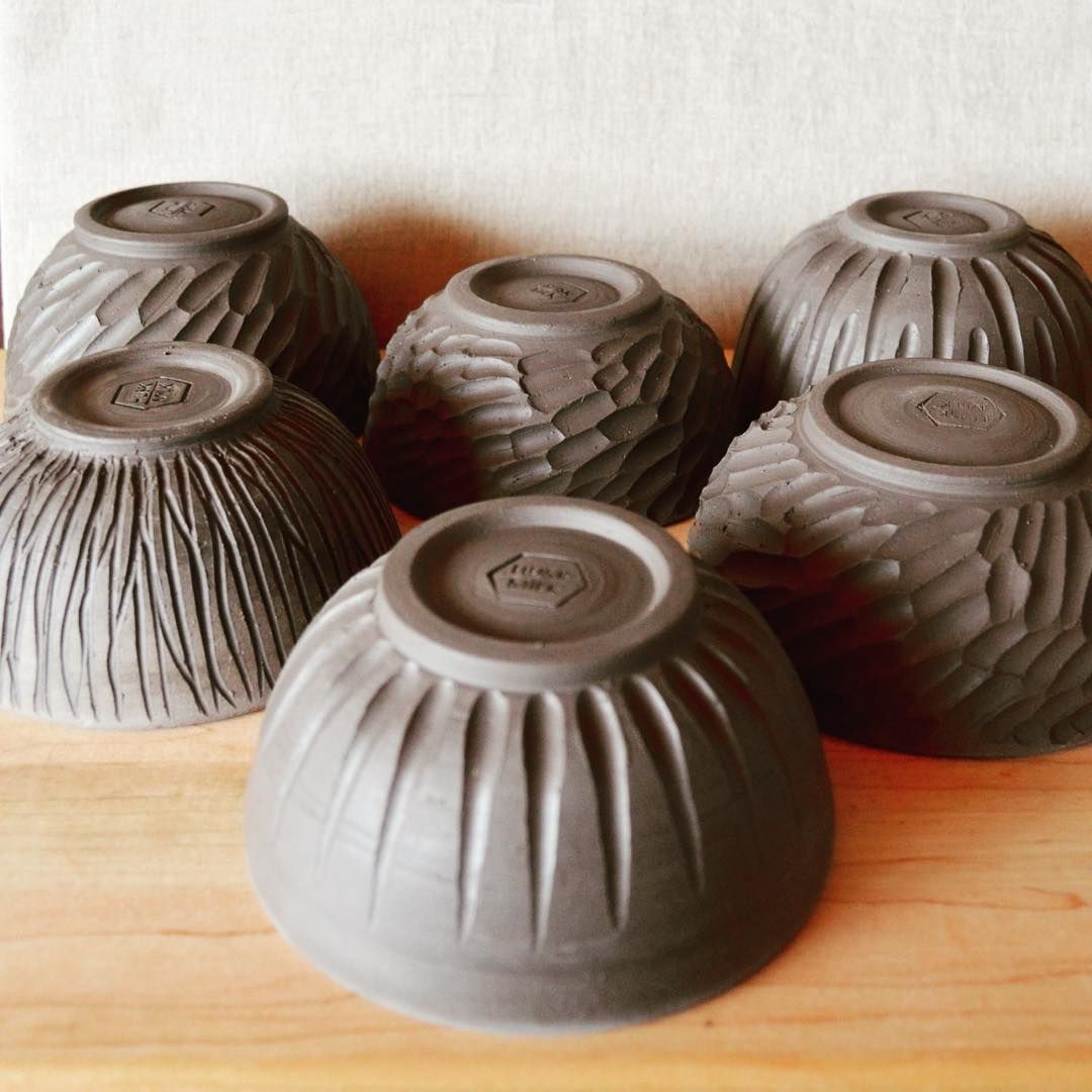 Bowls, bowls, bowls. I trimmed and carved six bowls last night and didn't carve through the bottom of any of them. That's a first!