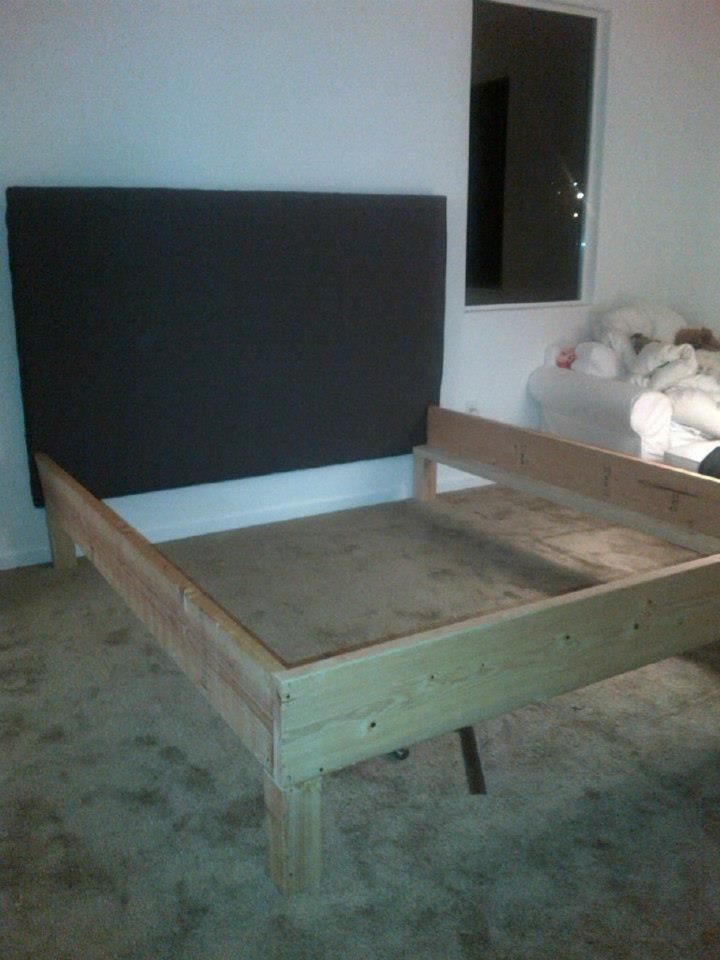 DIY Projects: Building a Cal king bed | House ideas | Pinterest