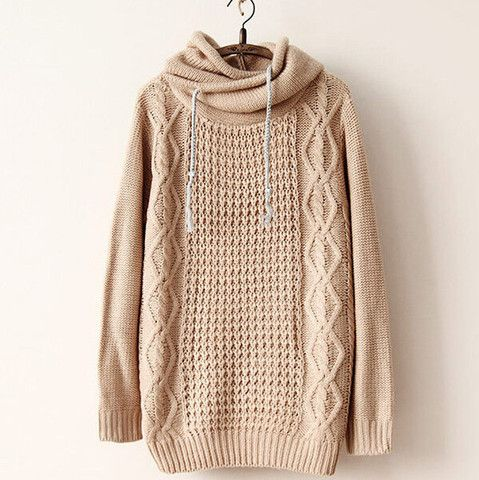 $28.00 | Retro loose hooded hedging sweater  NB929G