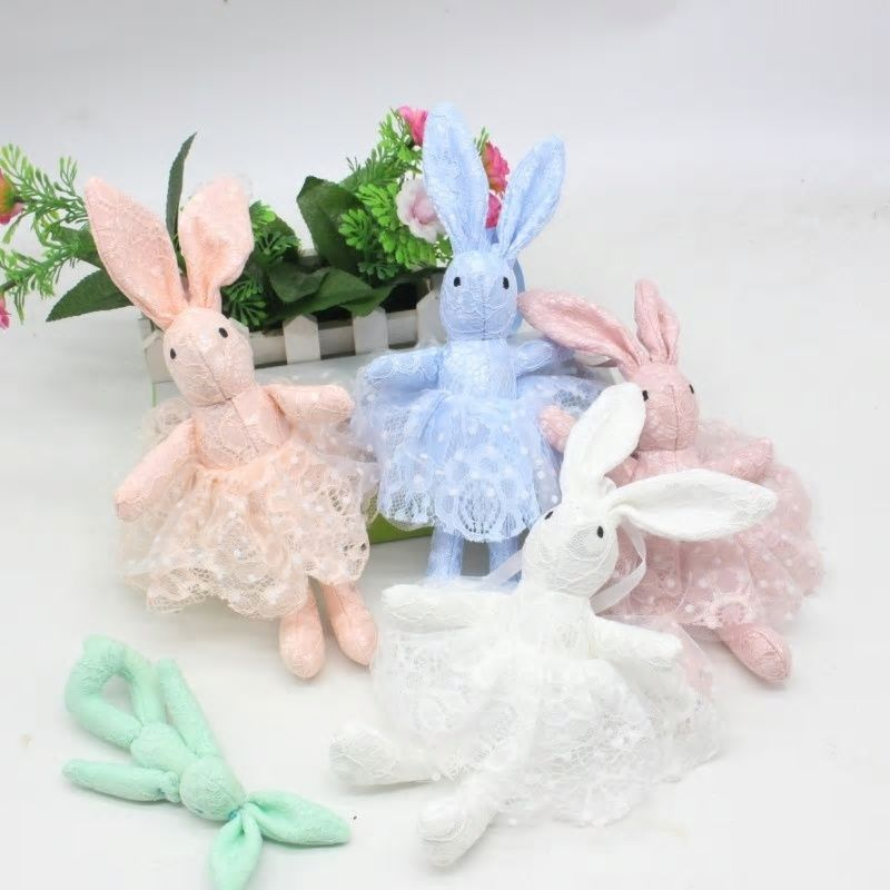 b92eeec3a5b8 New Arrival Cute Soft Lace Dress Rabbit Stuffed Plush Animal Bunny ...