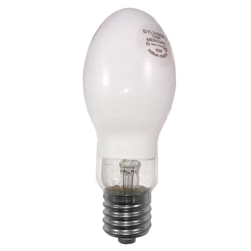 Sylvania 100w H38 Ed23 5 Coated Mercury Vapor Lamp H38ja 100 Dx Sylvania Lamp Bulb