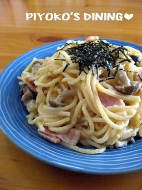 炊飯器で和風カルボナーラ #JapaneseStyle #carbonara #pasta #egg #milk #cheese