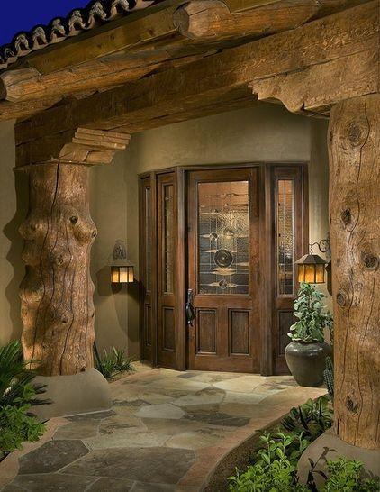 Log Cabin Front Door Colors | Log Home Exterior Doors | doors ...