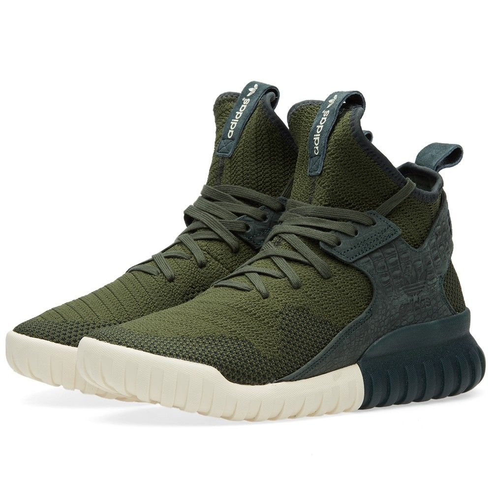 Adidas Tubular X Primeknit (Shadow Green)