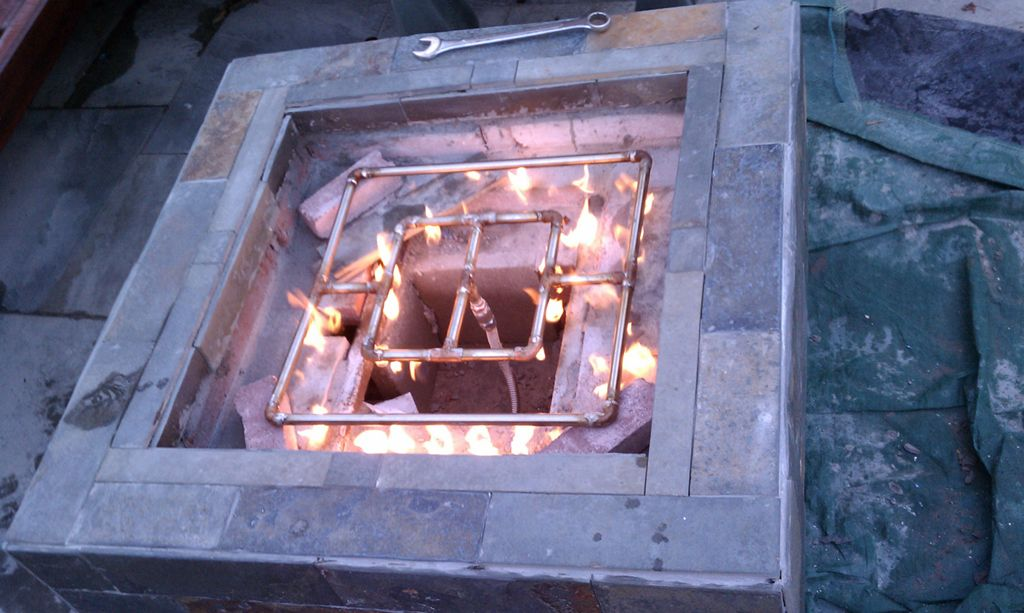 diy gas fire pit, how to build propane firepit ideas | Gas ...