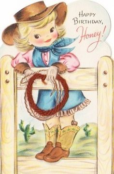 Cowgirl Birthday Card Google Search With Images Cowgirl Art