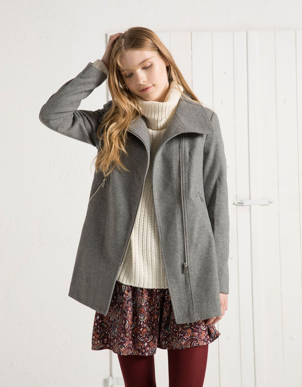 Manteau gris bershka