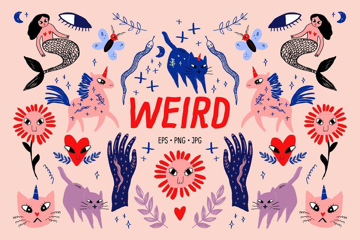 Scandinavian Ornate Animals Bundle In 2020 Unicorn Illustration Stitch Drawing Illustration Design