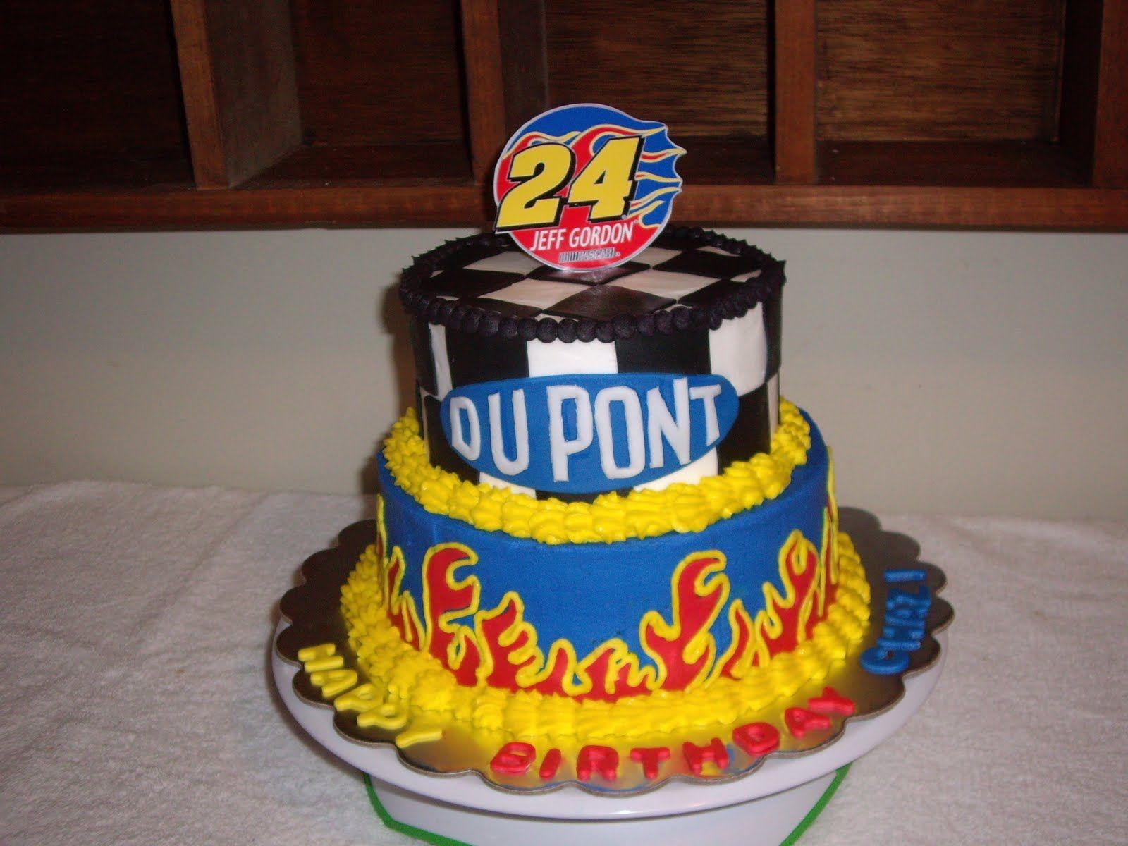 Jeff Gordon Nascar Birthday Cake With Images Cake Birthday