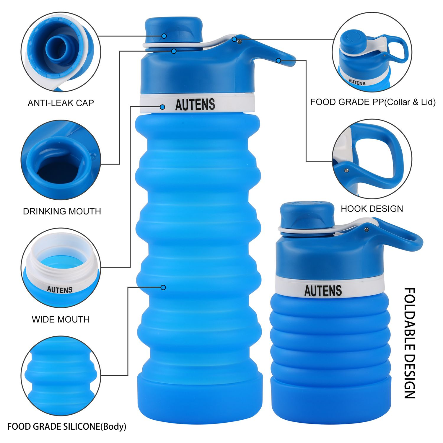 4709f8a24857 AUTENS Silicone Collapsible Water Bottle   My products