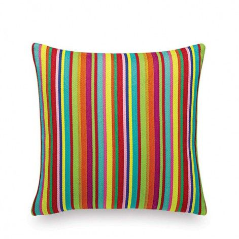 Millerstripe multicolored bright kussen