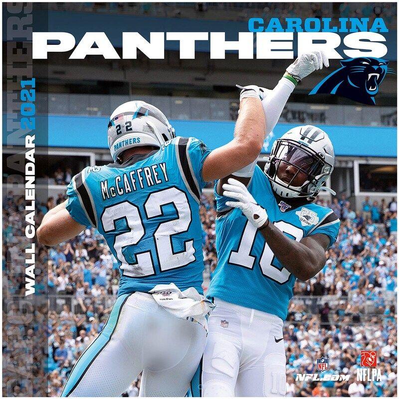 Carolina Panthers 2021 Wall Calendar In 2021 Carolina Panthers Football Carolina Panthers Nfl Carolina Panthers