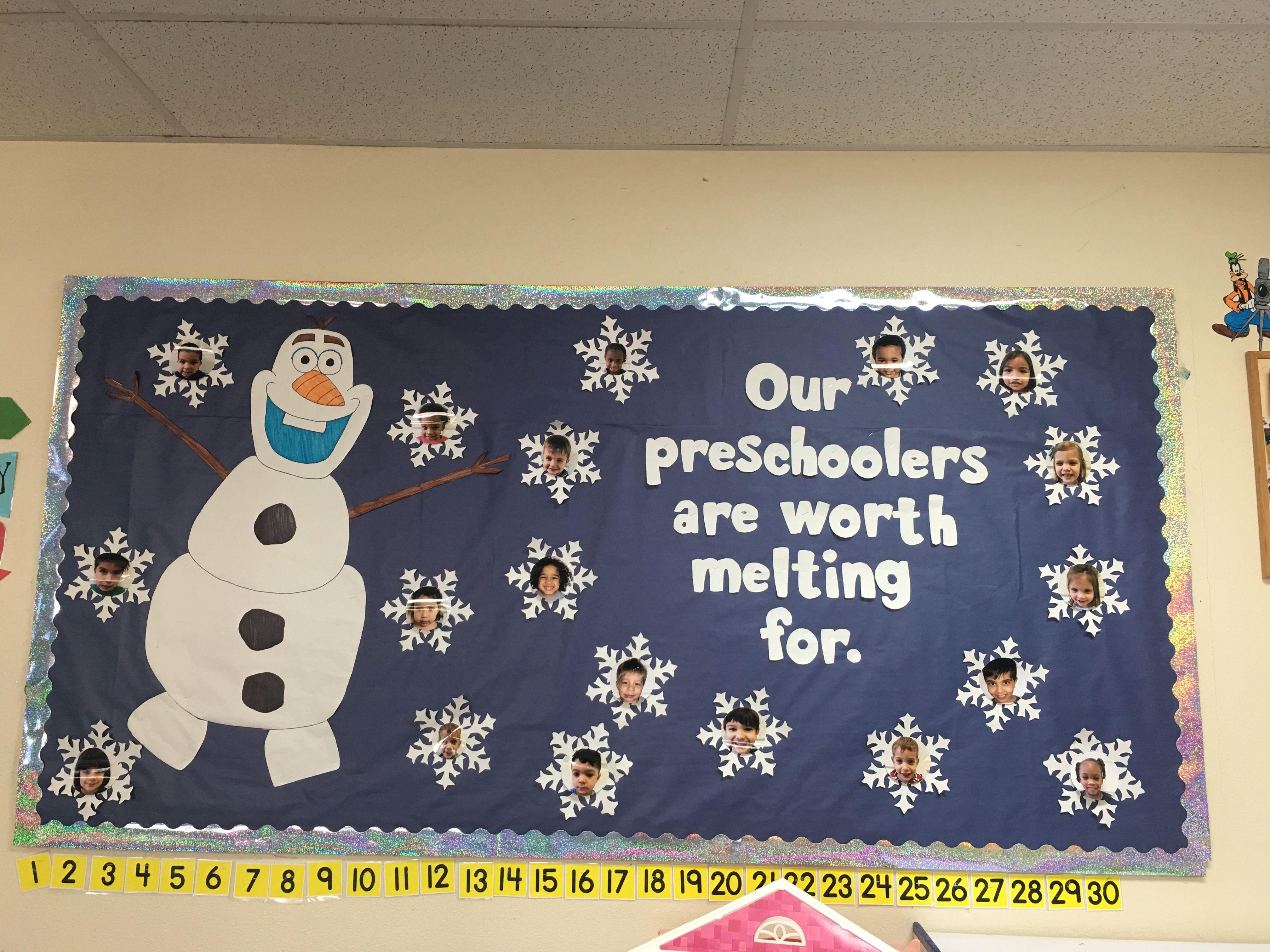 December Or Winter Bulletin Board Preschool Boards
