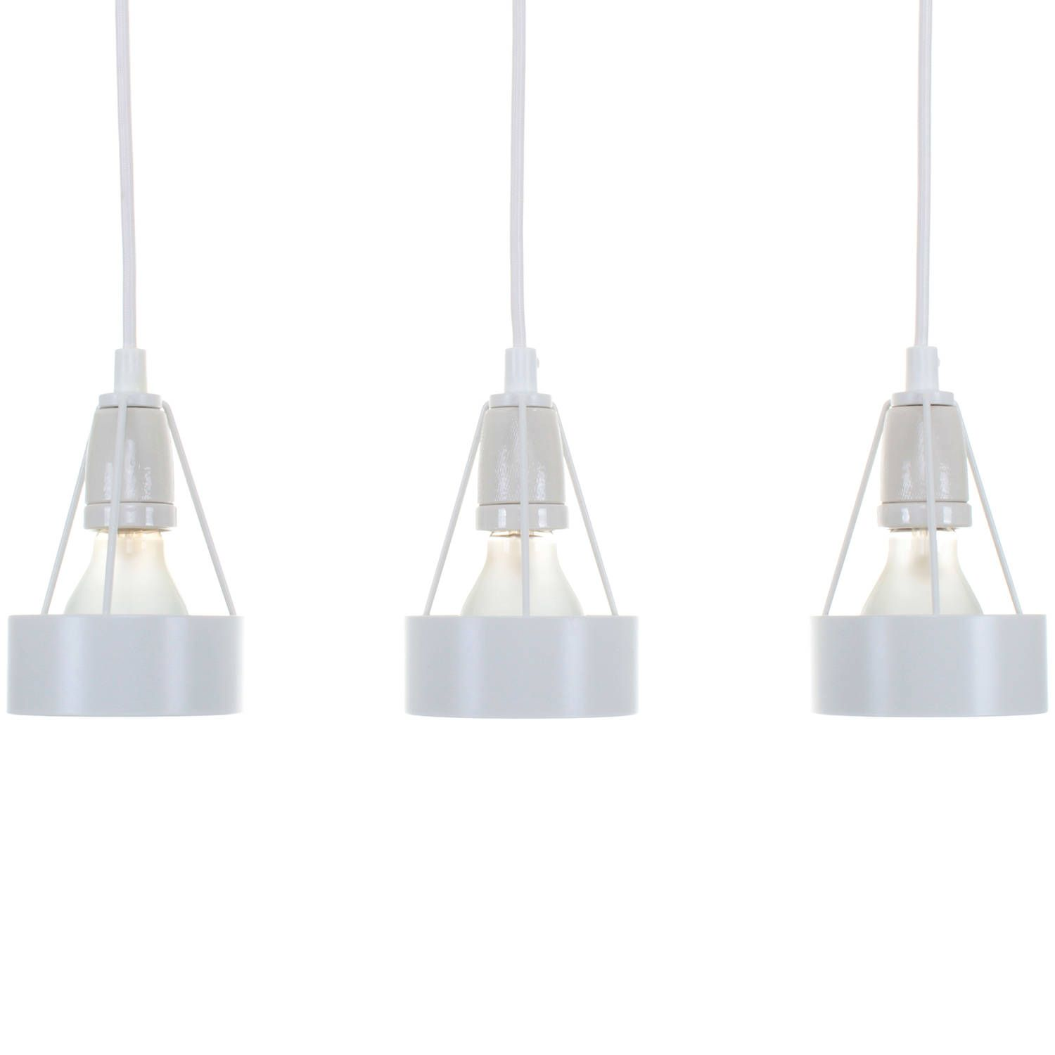 PAKHUS (set Of 3), White Pendants By Erik Møllers Tegnestue, 1984, Louis  Poulsen. Danish Mid Century Design. Minimalist White Hanging Lights By ...