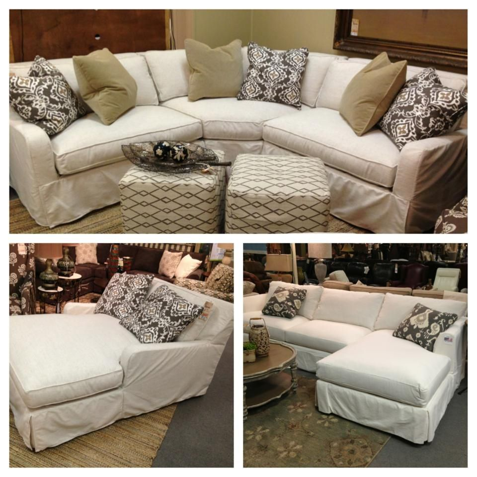 Robin bruce havens slipcover sofa now available as for Slipcovers for sectional sofa with chaise