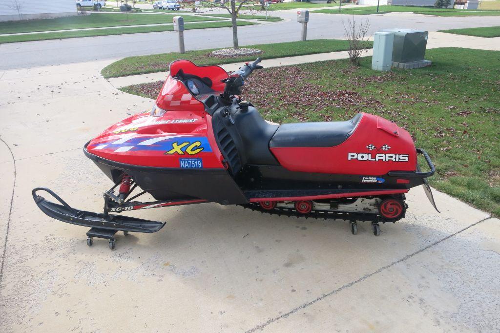 My 2000 Polaris Xc Sp 600 Snowmobile Riding Lawnmower Sleds