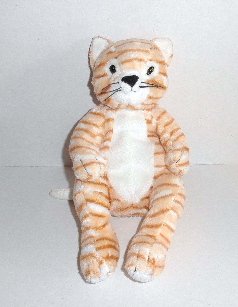 Hard To Find Ikea Tan And Orange Tabby Cat Plush Gosig Katt Ikea