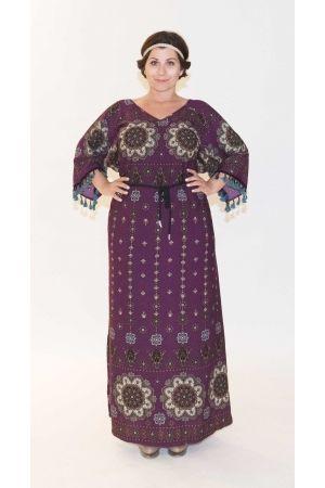 f3f1c828afb6 PlusSize Φόρεμα maxi με εμπριμέ μοτίβο