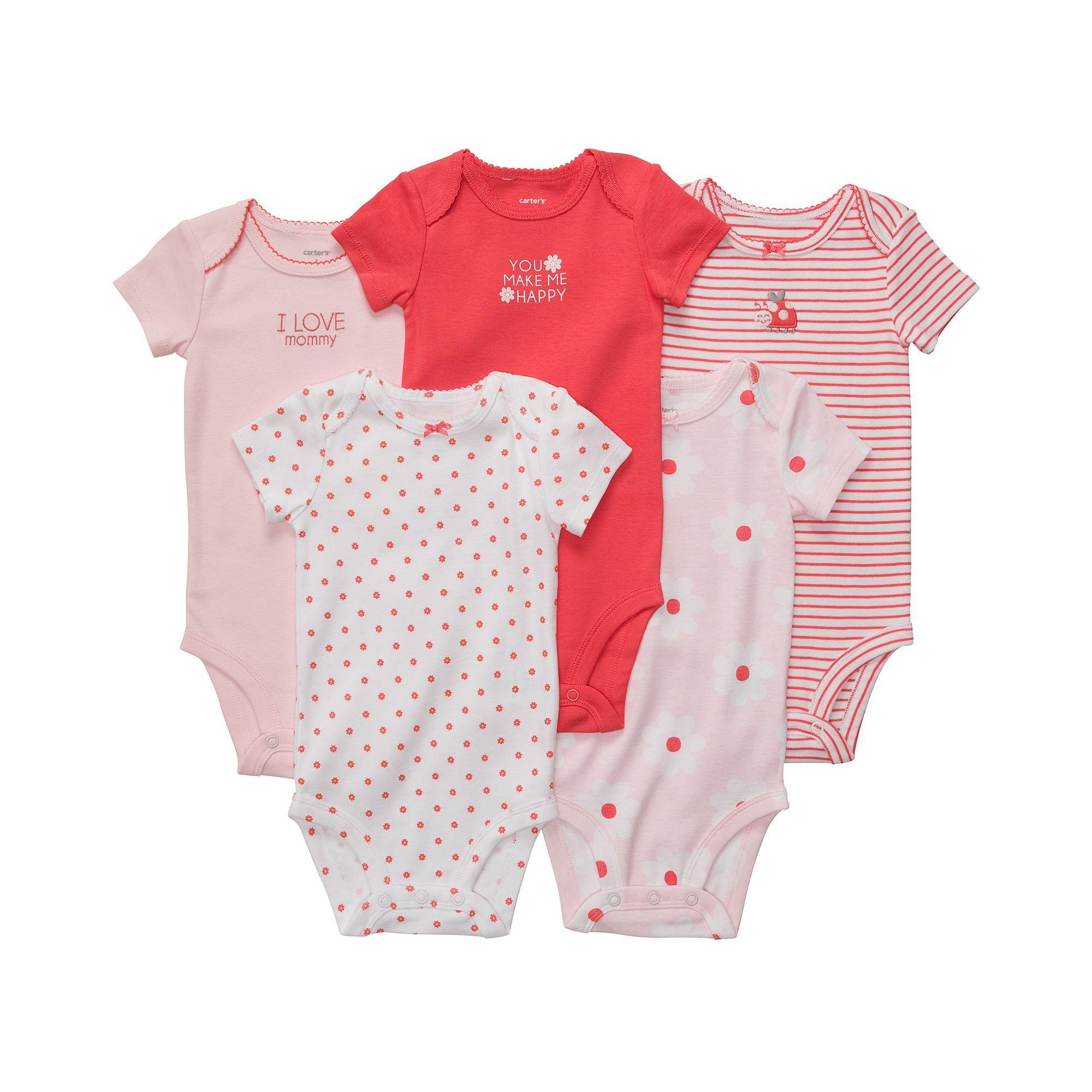 Baby Coral-6 Months Carters Graphic Romper