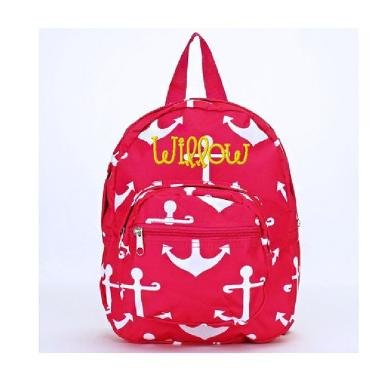 Monogrammed Mini Toddler Backpack Hot Pink with by D84Designs ... 5df87e2889f9f