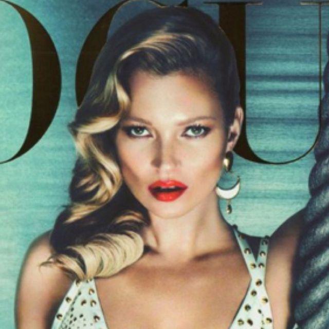 Sleek Hair On Kate For Vogue Italia Mirror Mirror Whos The