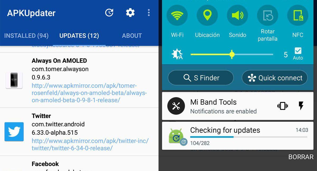 APKUpdater Actualiza tus Aplicaciones sin Google Play