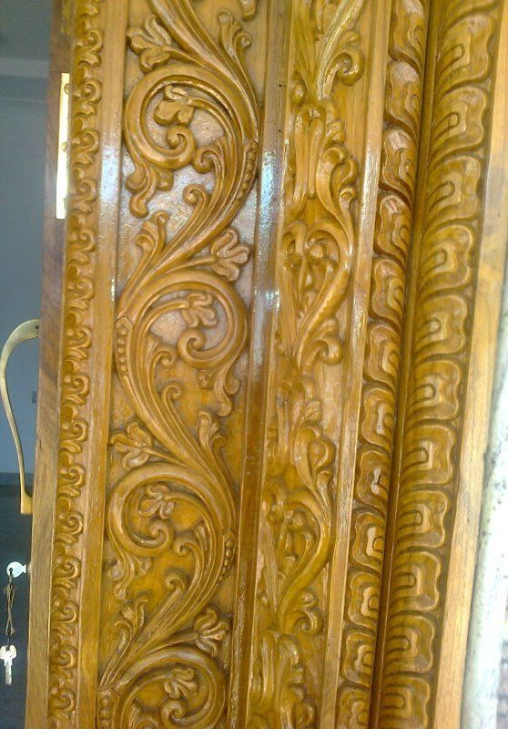 Bavas Wood Works Pooja Room Door Frame And Door Designs: Sri Devi Gayathri Wood Carving Works Udupi