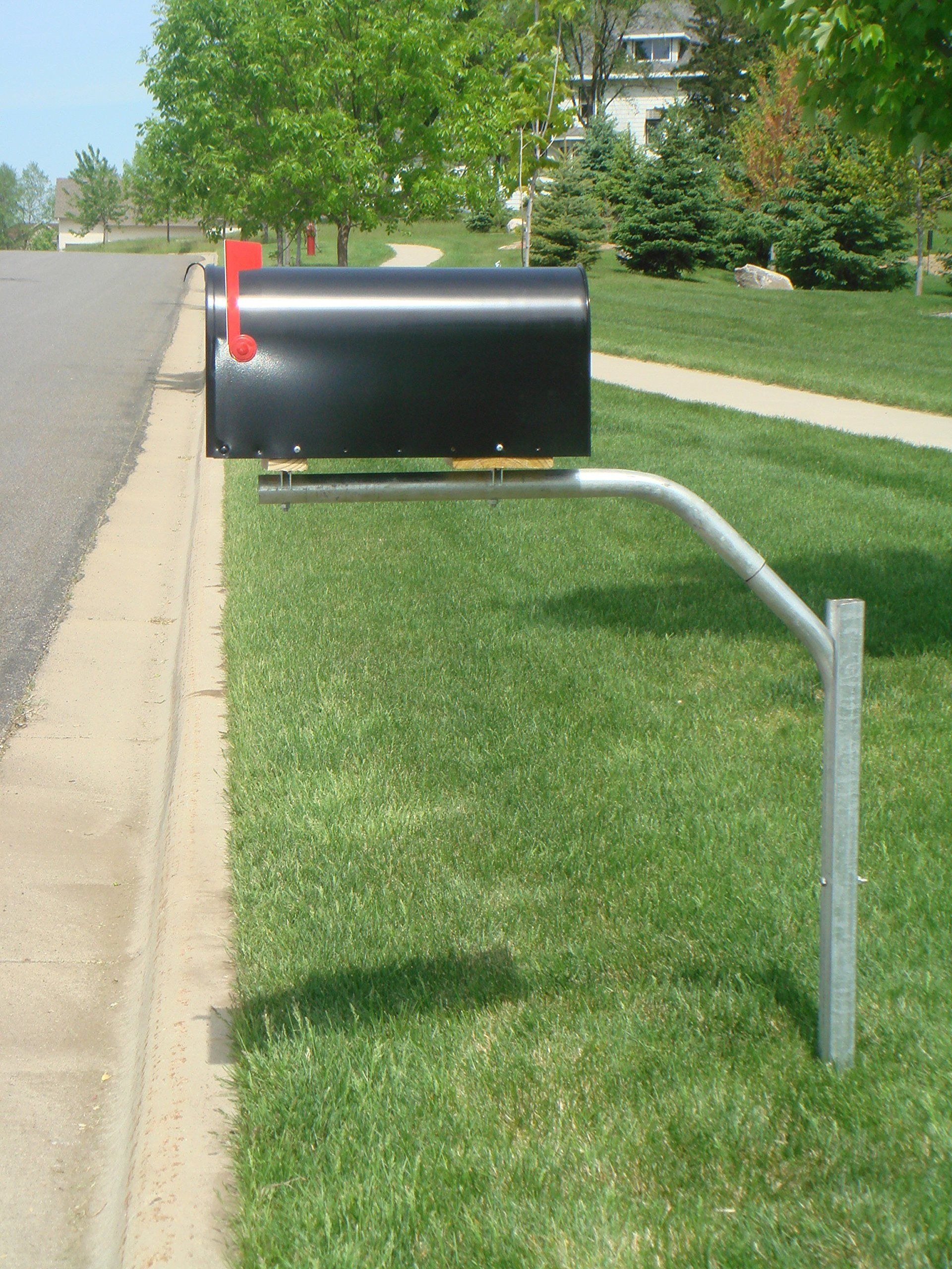 wood mailbox posts. SwingSAFE Mailbox Support Galvanized Steel Post Swings Away When Impacted Wood Posts