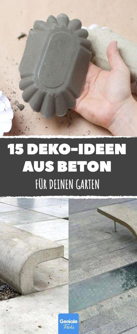 Dank Dieser 15 Hammerharten Deko Ideen Aus Beton Muss Kein Garten  Langweilig Aussehen.