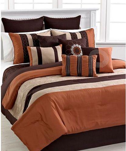 Elston Spice 12 Piece King Comforter Set Bedroom Comforter