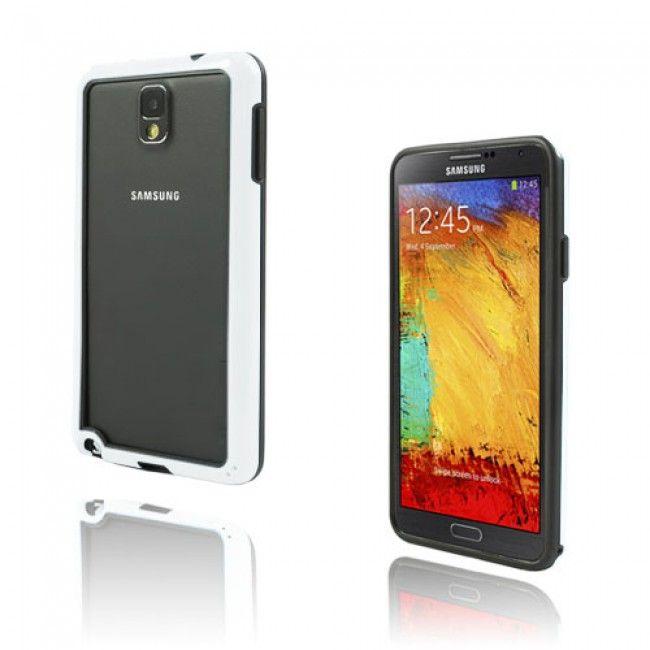 Jumper (Valkoinen) Samsung Galaxy Note 3 Bumper Suojakehys - http://lux-case.fi/jumper-valkoinen-samsung-galaxy-note-3-bumper-suojakehys.html
