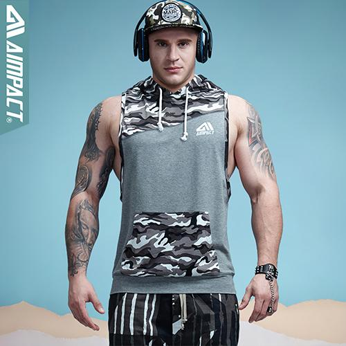 Clothing, Shoes & Accessories Creative Aimpact Camo Cotton Gym Sleeveless Hoodies For Men Muscle Workout Tank Top Shirt Activewear