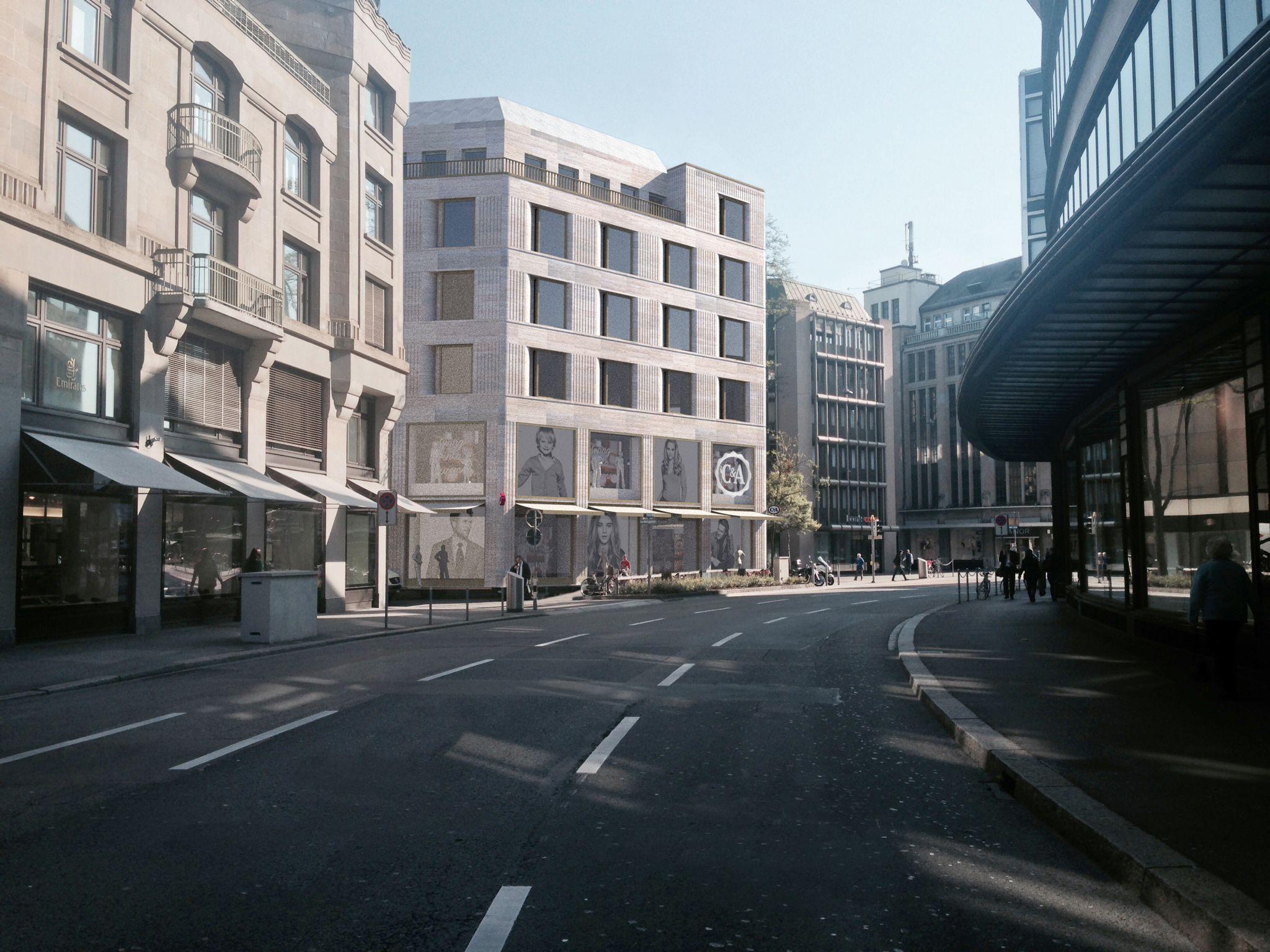 Fassadenstudie Umbau Warenhaus In Zurich Von Muller Truniger Architekten Architekt Fassade Architektur