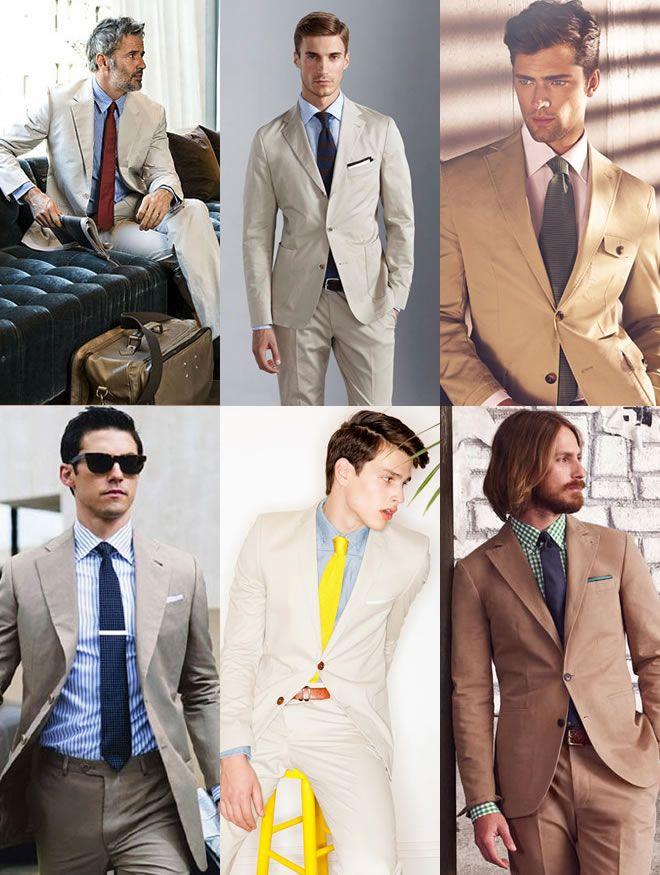 Men's Khaki Suits: A Spring/Summer Option Khaki Suits With Pastel ...