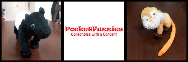 No I don't mean the stuff in your pocket. PocketFuzzies are cute and cuddly plush friends that you can carry around in its very own pocket  or pouch! These amazing creatures are modeled after real endangered animals and simply by learning about the animals and spreading the word you are helping them.