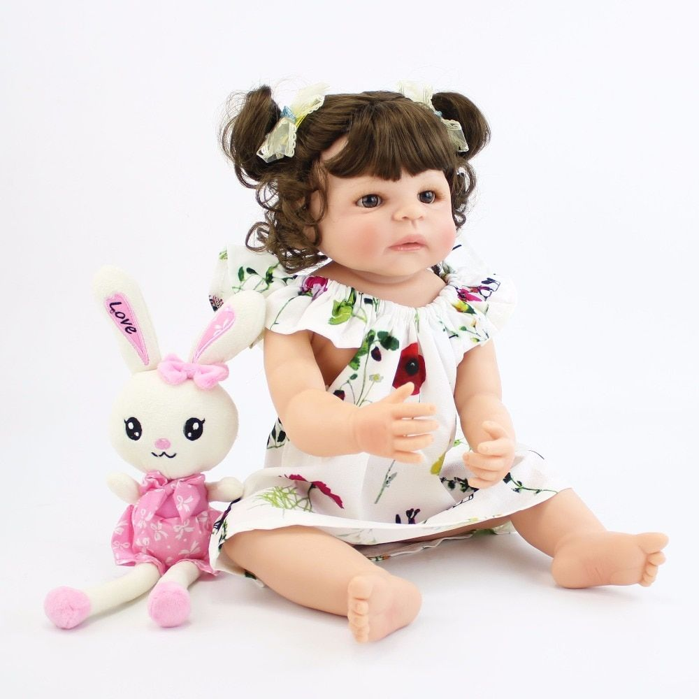 55cm Full Body Silicone Reborn Baby Doll Toys For Girls Cheap