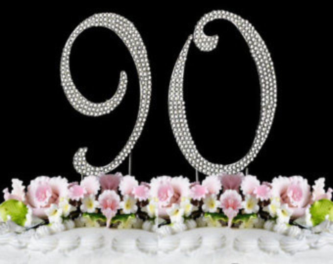 New Large Rhinestone NUMBER 60 Cake Topper 60th Birthday Party