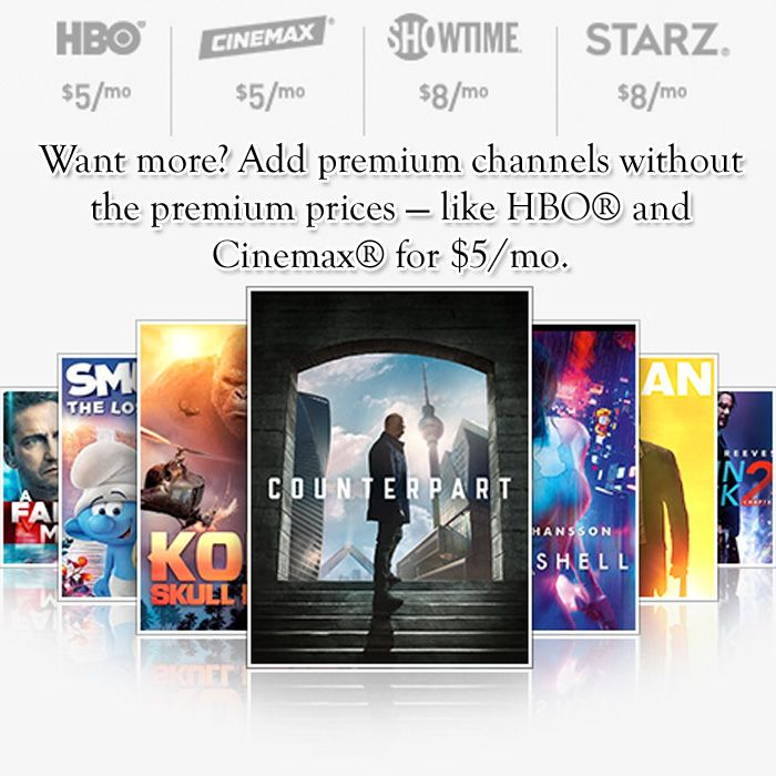 Add Premium Channels Without The Premium Prices Like HBO