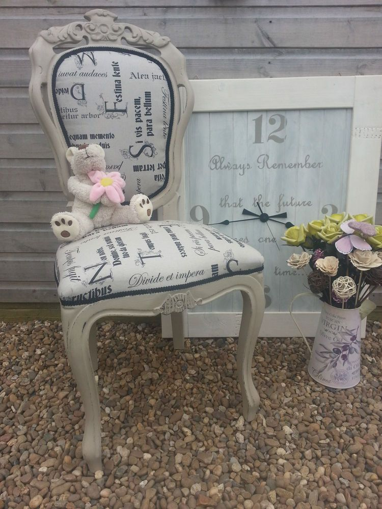 french louis chateau style shabby chic rococo bedroom chair painted rh pinterest com
