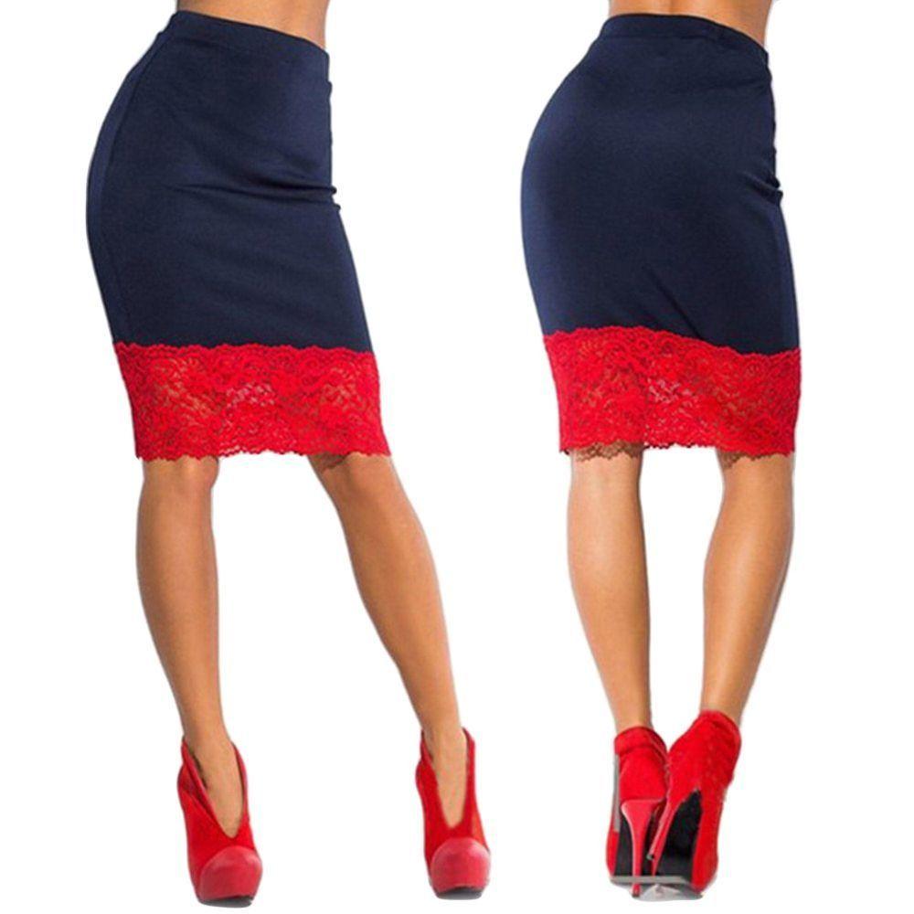 46d21e6fc High Waisted Pencil Mini Skirts | Saddha