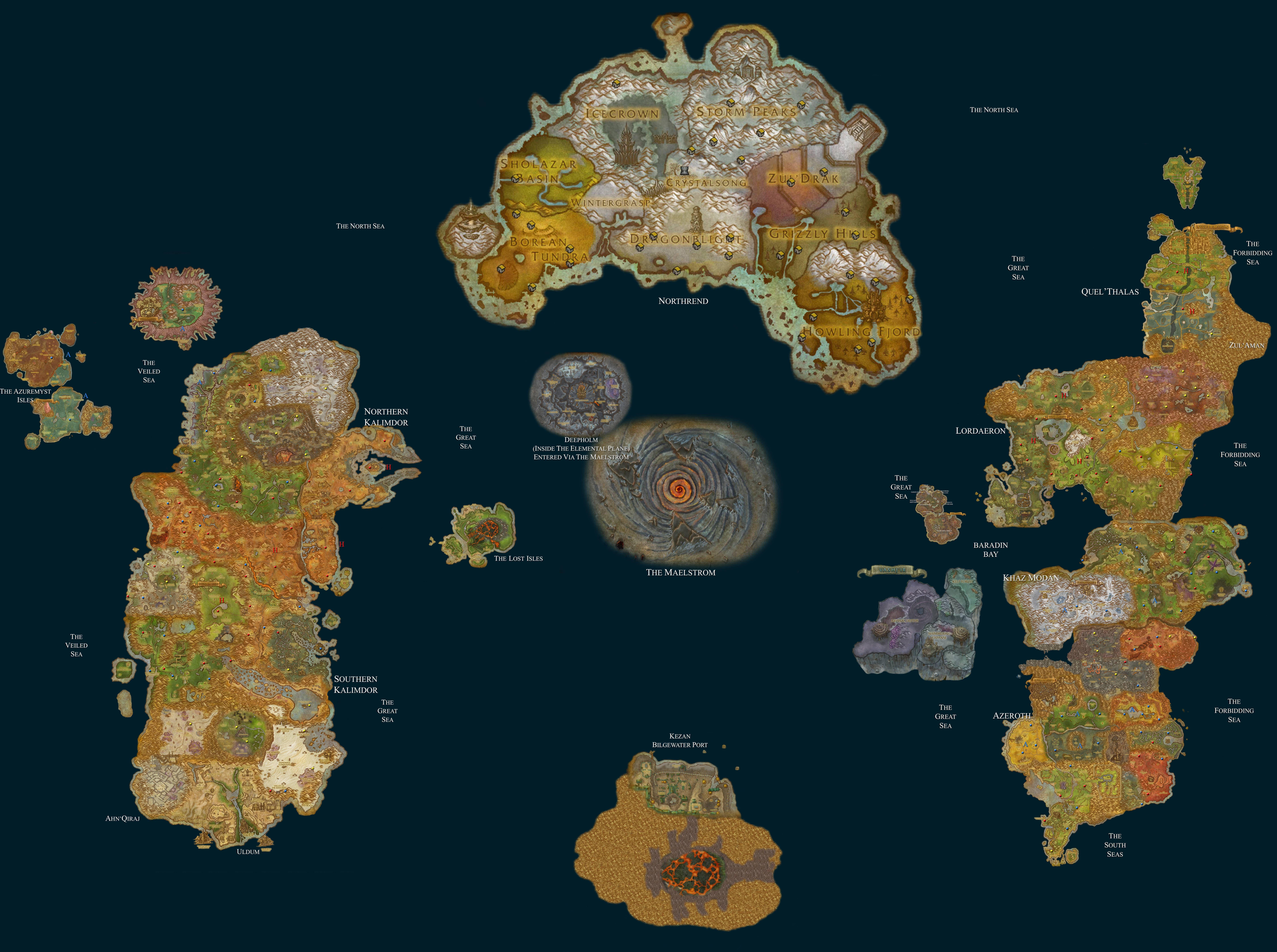 Map of Azeroth | Fantasy maps | Pinterest | Fantasy map
