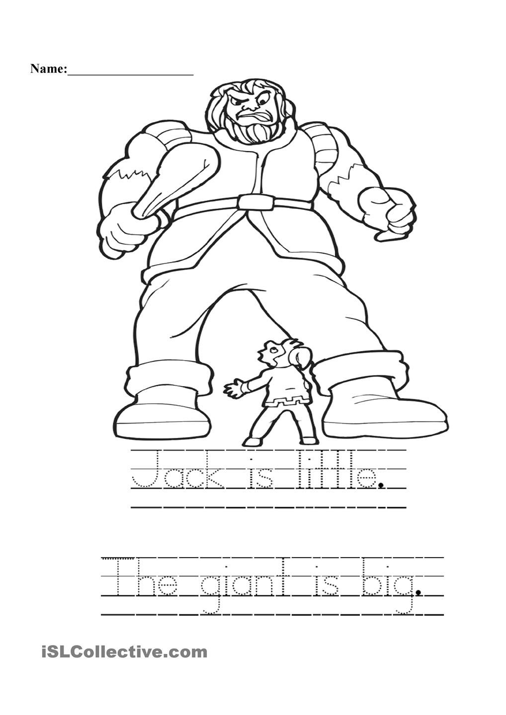 Jack And The Giant Jack And The Beanstalk Cute Coloring Pages Coloring Pages [ 1440 x 1018 Pixel ]