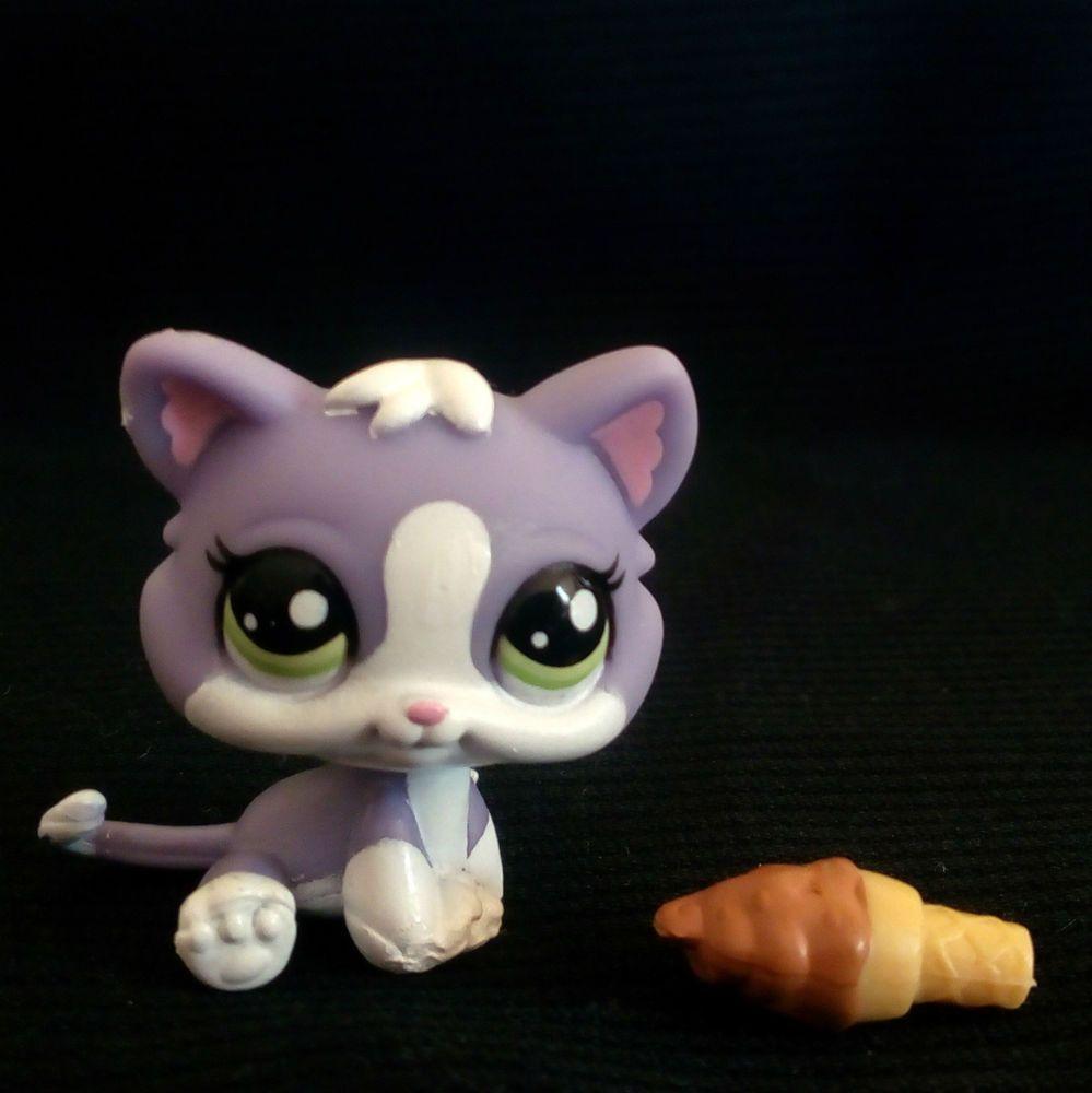 Littlest Pet Shop 2033 Sitting Kitten Cat LPS Toy HASBRO