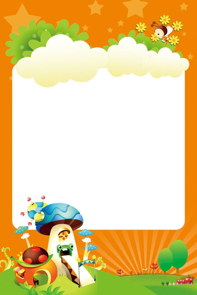 Small fresh cartoon poster background | Borders and frames ...