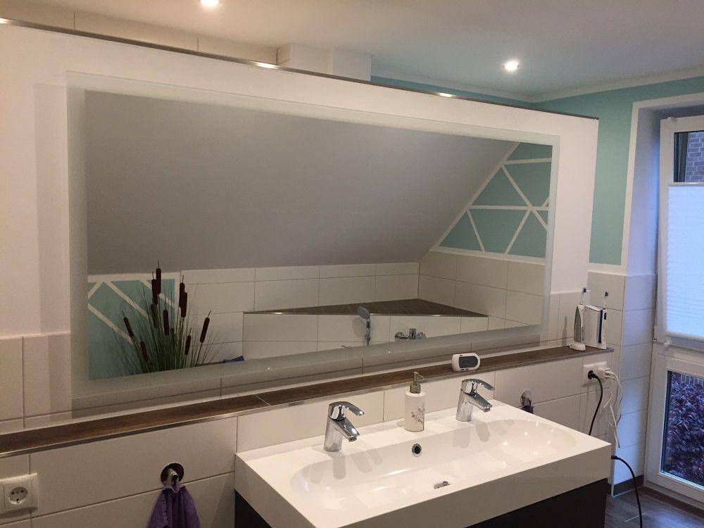 Badspiegel Mit Beleuchtung Komplettiert Unsere Badezimmerplanung Badezimmerspiegel Beleuchtung Badezimmerspiegel Badspiegel