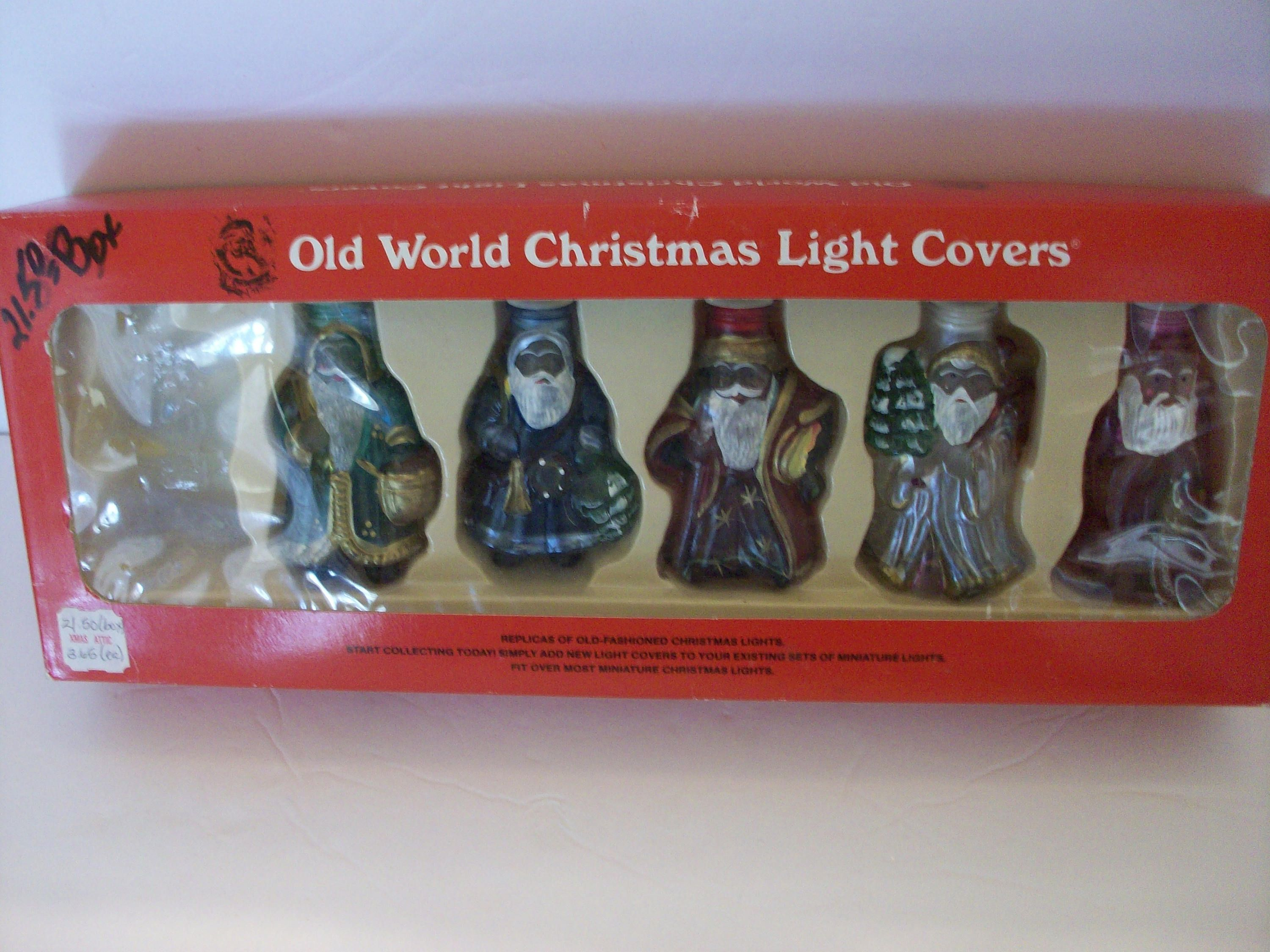 old world christmas santa light covers mini light covers santa light covers by sashaazrealchristmas